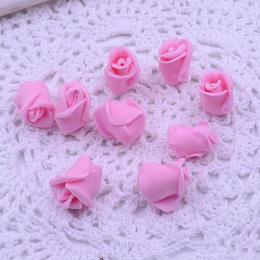 hm-1789. Розочка из фоамирана, розовая. 5 шт., 10 руб/шт