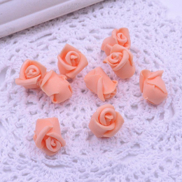 hm-1790. Розочка из фоамирана, персиковая. 200 шт., 4 руб/шт