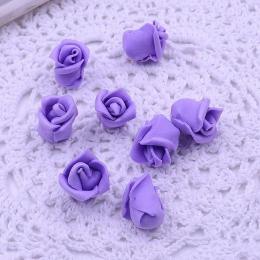 hm-1791. Розочка из фоамирана, фиолетовая. 20 шт., 7 руб/шт