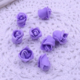 hm-1791. Розочка из фоамирана, фиолетовая. 10 шт., 8 руб/шт