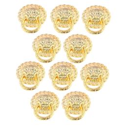 hm-1852. Ручка Львиная голова, цвет золото, 20 шт, 22 руб/шт