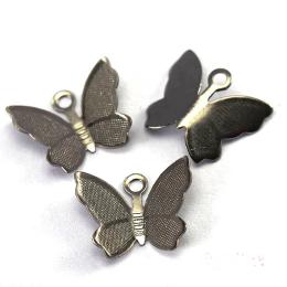 hm-1925. Подвеска Бабочка, цвет черный. 100 шт.,  3,5 руб/шт