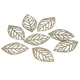 hm-1939. Подвеска Лист, цвет бронза. 50 шт., 4 руб/шт