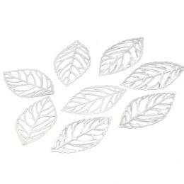 hm-1940. Подвеска Лист, цвет серебро  100 шт., 3 руб/шт