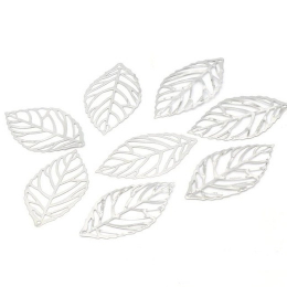hm-1940. Подвеска Лист, цвет серебро  50 шт., 4 руб/шт