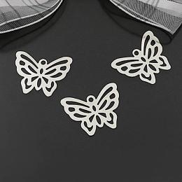 hm-2056. Подвеска Бабочка, цвет серебро. 100 шт., 4 руб/шт