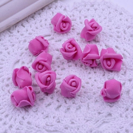 hm-2065. Розочка из фоамирана, темно-розовый. 50 шт., 6 руб/шт