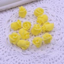 hm-2066. Розочка из фоамирана, цвет желтый. 100 шт., 5 руб/шт
