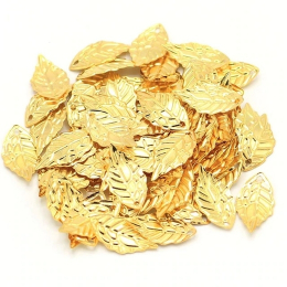 hm-2100. Подвеска Лист, цвет золото. 20 шт., 5 руб/шт