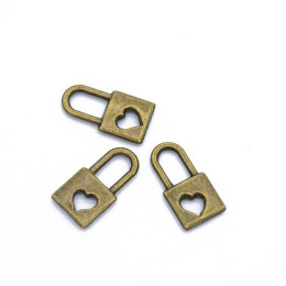 hm-2101. Подвеска Замочек, цвет бронза. 5 шт., 11 руб/шт