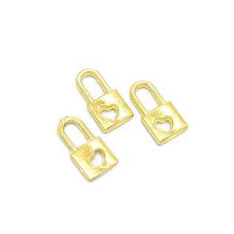 hm-2102. Подвеска Замочек, цвет золото. 100 шт., 6 руб/шт