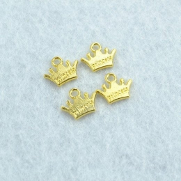 hm-2104. Подвеска Корона принцессы, золото. 10 шт., 10 руб/шт