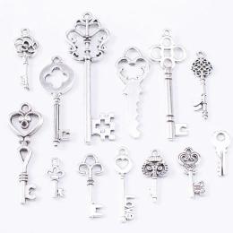 hm-2114. Ключи, серебро, микс 13 шт