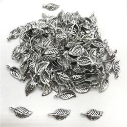 hm-2120. Подвеска Листик, цвет серебро. 100 шт., 4 руб/шт