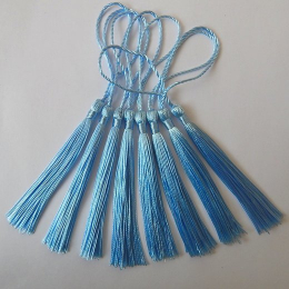 hm-2136. Кисточка, цвет голубой. 100 шт., 7 руб/шт