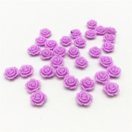 hm-2152. Кабошон Роза, цвет сиреневый. 20 шт., 9 руб/шт