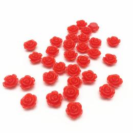 hm-2153. Кабошон Роза, цвет красный. 50 шт., 8 руб/шт