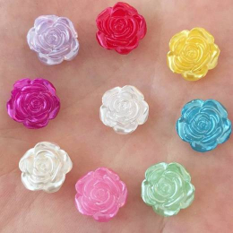 hm-2156. Кабошон Роза, микс блестящие. 50 шт., 6 руб/шт