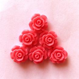 hm-2157. Кабошон Роза, коралловый. 20 шт., 9 руб/шт