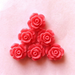 hm-2157. Кабошон Роза, коралловый. 100 шт., 7 руб/шт