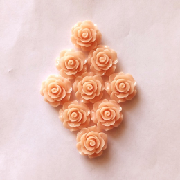 hm-2158. Кабошон Роза, розово-персиковый. 50 шт., 16 руб/шт