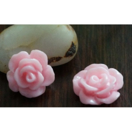 hm-2180. Кабошон Роза, розовый.