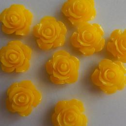 hm-2181. Кабошон Роза, желтый. 5 шт., 15 руб/шт