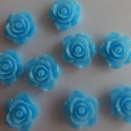 hm-2184. Кабошон Роза, голубой. 20 шт., 13 руб/шт