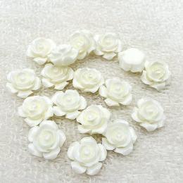 hm-2185. Кабошон Роза, белый. 50 шт., 12 руб/шт