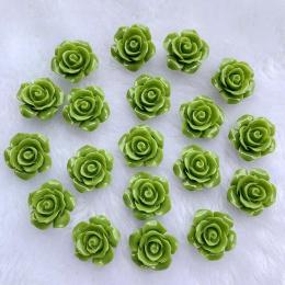 hm-2186. Кабошон Роза, зеленый. 20 шт., 13 руб/шт