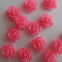 hm-2187. Кабошон Роза, розовый. 50 шт., 12 руб/шт