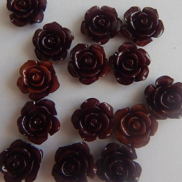 hm-2190. Кабошон Роза,  коричневый. 5 шт., 15 руб/шт