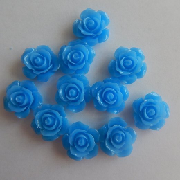 hm-2191. Кабошон Роза,  синий. 10 шт., 14 руб/шт