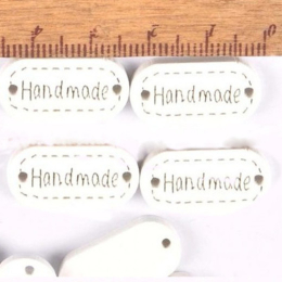 hm-2206. Табличка Handmade, белая 200 шт., 4 руб/шт