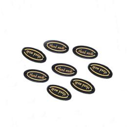 hm-2214. Табличка Handmade, черная. 20 шт., 7 руб/шт