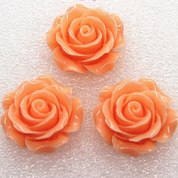 hm-2226. Кабошон Роза, персиковый. 20 шт., 10 руб/шт