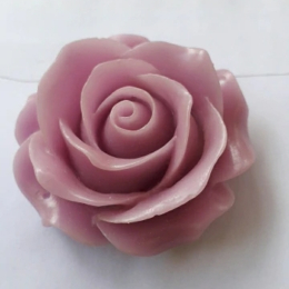 hm-2231. Кабошон Роза, сиреневый. 50 шт., 9 руб/шт