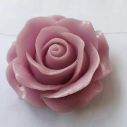 hm-2231. Кабошон Роза, сиреневый. 10 шт., 11 руб/шт