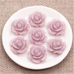 hm-2237. Кабошон Роза, светло-розовый. 20 шт., 8 руб/шт