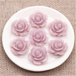 hm-2237. Кабошон Роза, светло-розовый. 10 шт., 9 руб/шт