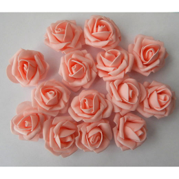 hm-2240.Розочка из фоамирана,розово-персиковый.200шт., 7руб/шт