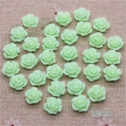 hm-2257. Кабошон Роза, светло-зеленый. 100 шт., 6 руб/шт
