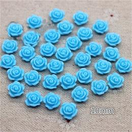 hm-2258. Кабошон Роза, голубой, 5 шт., 10 руб/шт