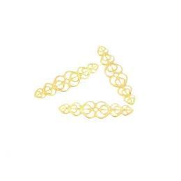 hm-2260. Декоративный элемент, цвет золото. 20 шт., 8 руб/шт