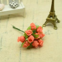 hm-2316. Букет цветов, 12 шт., коралловый