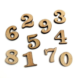 hm-2331. Цифры, дерево. 50 шт