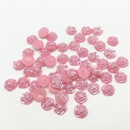 hm-2334. Кабошон Роза, розовый. 5 шт., 10 руб/шт