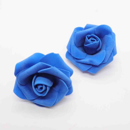 hm-2347. Розочка из фоамирана, синяя. 10 шт., 11 руб/шт.