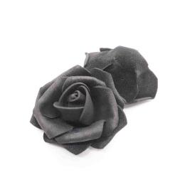 hm-2348. Розочка из фоамирана, черная . 20 шт., 10 руб/шт