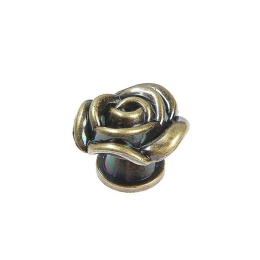 hm-2398. Ручка кнопка «Роза», бронза. 5 шт., 50 руб/шт